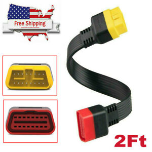 60cm Obd2 Extension Cable X431 Main Obd2 Extended 16pin Male To Female