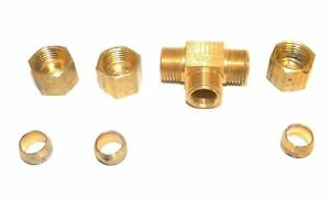 Big A Service Line 3 16450 Hydraulic Tee Connector Fitting 5 16