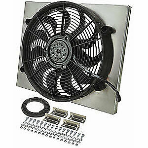 Derale 16823 Dual Speed Electric Puller Fan With Aluminum Shroud