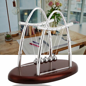 Newton Ball Cradle Toy Balance Physics Pendulum Science Desk Office Home Toy Us