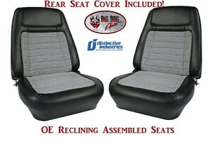 Assembled Oe Deluxe Reclining Seats Rear Folding Seat Cover For 1968 Camaro