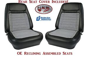 Assembled Oe Deluxe Reclining Seats Rear Seat Cover 1968 Camaro Convertibles
