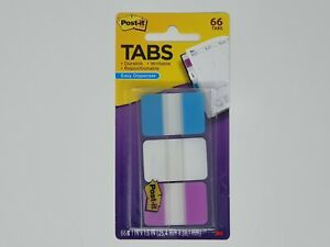Post it Tabs 3m 1 x1 5 66 pack Writable 3 Lined Color Repositionable 686 awv