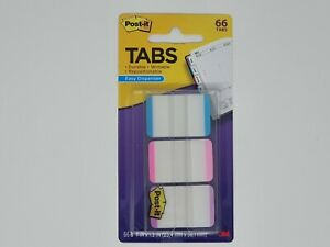 Post it Tabs 3m 1 x1 5 66 pack Writable 3 Lined Color Repositionable 686l apv
