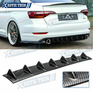 1x Carbon Style Rear Lower Bumper Diffuser Fin Spoiler Lip Wing Splitter 34 x 6