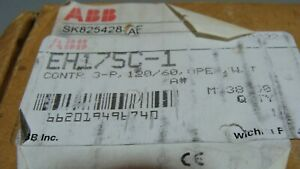 New Abb Eh 170 Size 5 3 Pole Contactor 200hp 230a Eh170 Eh175c 1 120v Coil