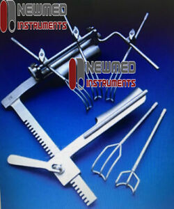 Premium Quality Cooley Cosgrove Mitral Valve Retractor Complete Surgical Set