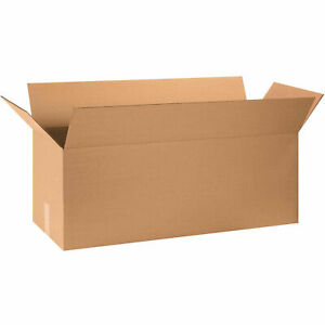32 X 12 X 12 Long Cardboard Corrugated Boxes 65 Lbs Capacity Ect 32 Lot Of