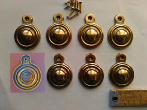 8 Vintage Bed Bolt Covers With Screws By Keeler Brass Company A Brass Color