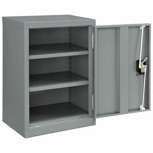 Assembled Wall Storage Cabinet 18x12x26 Gray