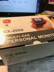 Rki Gx 2009 Gas Monitor Detector W charger 4 Gas New Oxy And Fresh Calibration