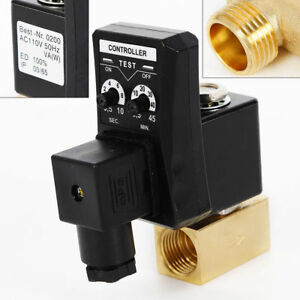 1 2 Electronic Timed Air Compressor Tank Automatic Water Moisture Drain Valve