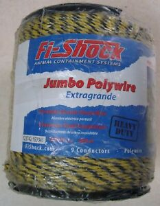 Fi shock Pw1320y9 fs 9 strand Stainless Steel Conductor Electric Polywire 1320