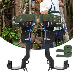 2 Gears Tree Pole Climbing Spike Safety Adjustable Lanyard Rope Rescue Belt Usa