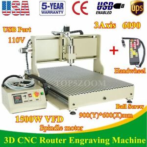 Usb 3axis Cnc 6090z Router Engraver Drill Milling Advertising Machine controller