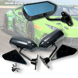F1 Carbon Fiber Look Blue Racing Side Mirrors For Civic Prelude S2000 Nsx Rsx