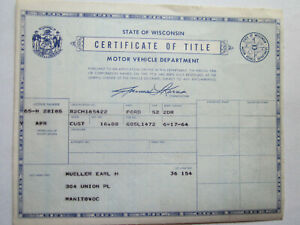 1952 Ford 2 Door Barn Find Historical Document