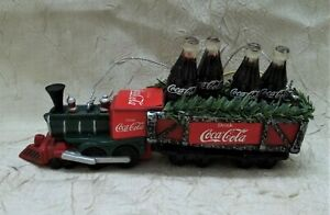 Coca-Cola Train with Coke Bottles Christmas Ornament Holiday