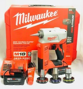 Milwaukee 2632 22xc M18 Propex Expansion Tool Kit Brand New In Box