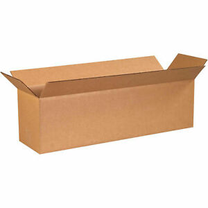 28 X 8 X 8 Long Cardboard Corrugated Boxes 65 Lbs Capacity Ect 32 Lot Of