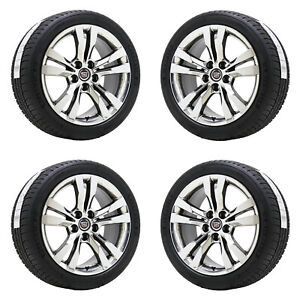 18 Cadillac Cts V Sport Bright Pvd Chrome Wheels Rim Tires Factory Oem Set 4717