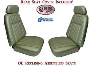 Fully Assembled Deluxe Oe Reclining Seats Rear Seat Upholstery For 1969 Camaro