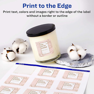 Avery Oil Resistant Waterproof Labels Print To The Edge Smudge Proof 10 Sheet