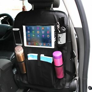 Car Back Seat Organizer With Phone Tablet Holder Touch Screen Pocket Storage