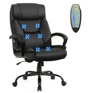 Big Tall 500lb Massage Office Chair Executive Pu Leather Computer Desk Chair