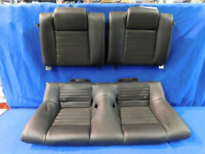 05 06 07 08 09 Ford Mustang Coupe Black Rear Leather Seat Upper Lower E73
