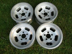 15 X 7 Appliance Slotted Mag Wheels Old School Slot 5x5 70 S Ansen Western