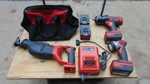 Snap On 18v Monster Lithium Set Ct8850 Impact Ctrs8850 Saw Ctled7850 Ctb8185