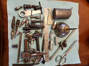 Misc Shop Tools Air Fittings Tube Bender Broach Oil Cans Tap Handles