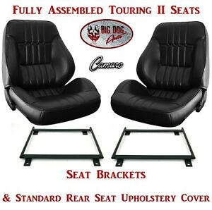 Standard Touring Ii Assembled Seats Brackets Rear Seat Cover For 1973 Camaro