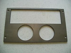 Ford Mustang 87 93 Radio Double Gauge Panel For 2 1 16 Inch Gauges Steel