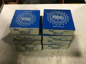 Martin 50bs18 1 3 16 Roller Chain Sprocket 18 Teeth 1 3 16in Bore Lot Of 8