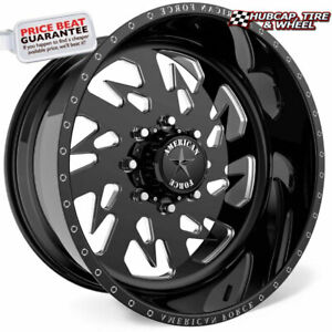 American Force G14 Sideways Ss Black 20 X10 Wheels Rims 8 Lug Set Of 4
