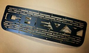 New Custom Chevy Grill 1988 98 1500 Word Letters Grille Silverado Tahoe Suburban
