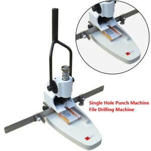 Manual Album Paper Tags Single Hole Punch Machine File Drilling Machine