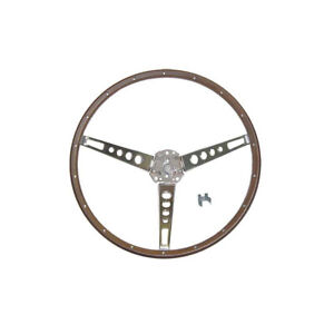 1965 1966 Mustang Deluxe Pony Interior Simulated Wood Steering Wheel 44 38401 1