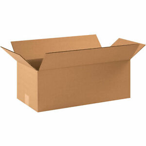 22 X 10 X 8 Long Cardboard Corrugated Boxes 65 Lbs Capacity Ect 32 Lot Of