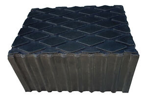 Rubber Load Pad rubber Block 80mm Thick For Use With Hoist Scissor Lifts