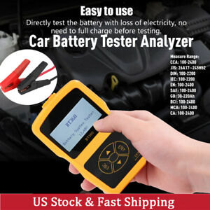 Car Load Battery Tester Analyzer Bt 360 Multi language Battery Digital Tester