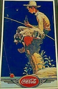 10 In x 16 In NORMAN ROCKWELL'S DRINK Coca-Cola Metal Sign