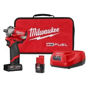 Milwaukee Mlw2555 22 Fuel Stubby Brushless 1 2 Inch Impact Wrench Kit