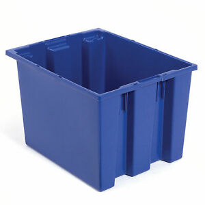 Stack And Nest Shipping Container No Lid 19 1 2x15 1 2x10 Blue Lot Of 6