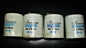 Set Of Four Vintage Sears Spectrum Trapper 03 Oil Filters New Sealed nos