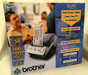 New Brother Ql 500 P touch Electronic Labeling System Pc Label Printer