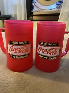 Red Vintage Coca-Cola Mugs Set