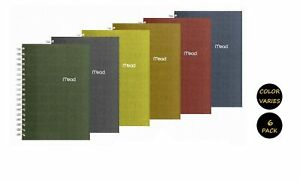 Mead Spiral Notebook 2 Subject College Ruled Paper 120 Sheets 9 1 2 X 6